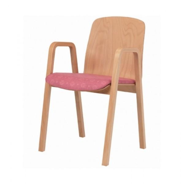 Cara Upright Armchair Upholstered Seat CARAK0212