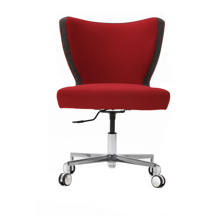 Jenny Upright Armless Desk Chair With Cruciform Base