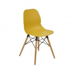 Shore Upright Armless Chair Natural Frame LR
