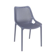 Malibu Upright Stacking Armless Chair MALIBK9011 Anthracite