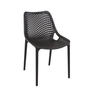 Malibu Upright Stacking Armless Chair MALIBK9011 Black