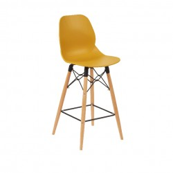 Shore Mid Height Stool Natural Frame