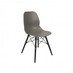 Shore Upright Armless Chair Black Frame