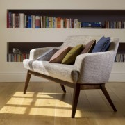 Lucia 2 Seater Settee with Timber Base