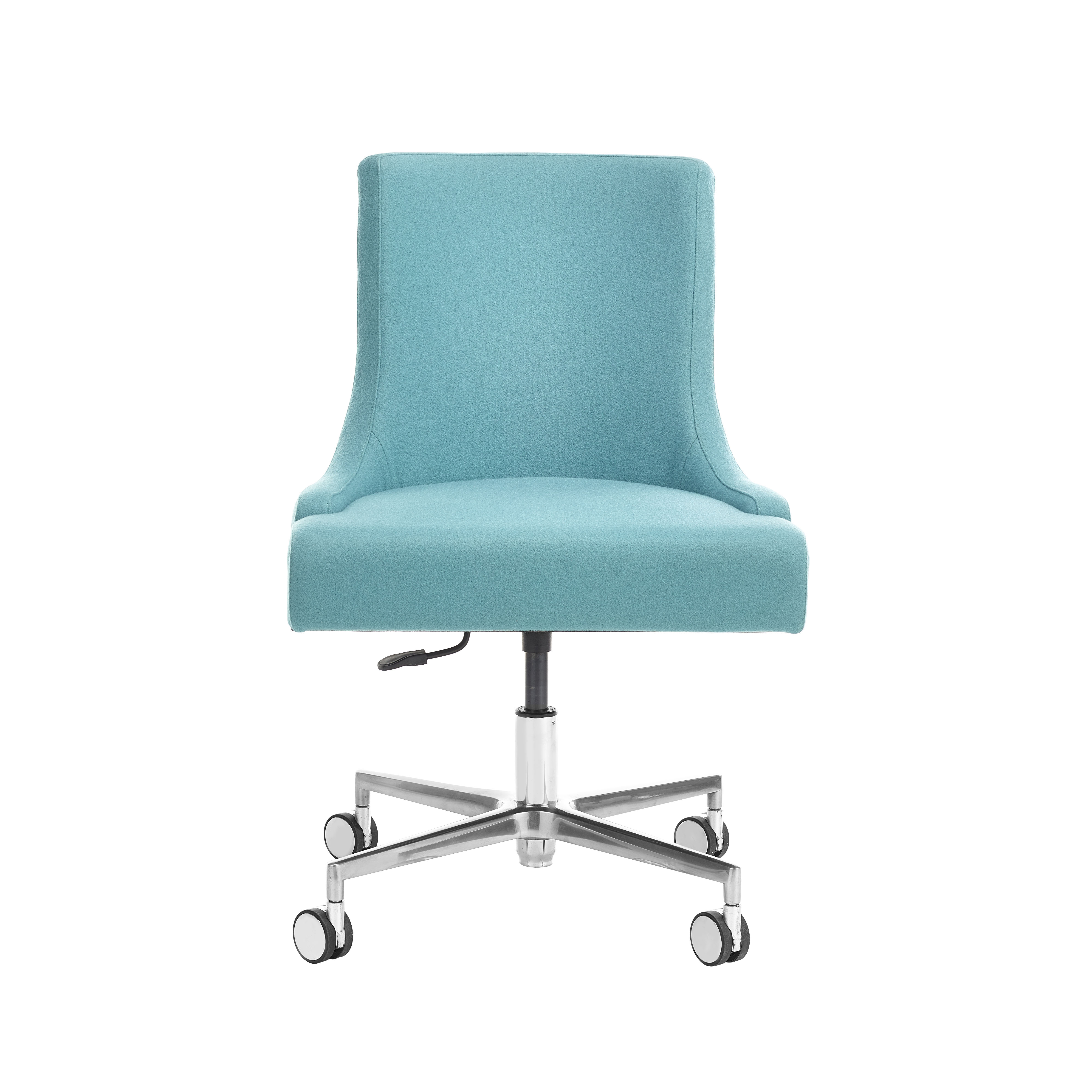 Sorrento Upright Armless Desk Chair With Castors And Variable Seat Height Knightsbridge Furniture