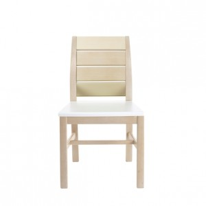 Ascot Armless Chair with Wooden Back and Kydex Seat