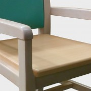 Ascot Wooden Seat Detail Shot