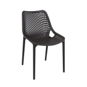 Malibu Upright Stacking Armless Chair MALIBK9011 Black