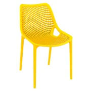 Malibu Upright Stacking Armless Chair MALIBK9011 Yellow